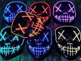 Светодиодная неоновая маска «Судная ночь» - новый тренд 2020 года!