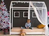 Pat pentru copii BabyTime Montessori, alb