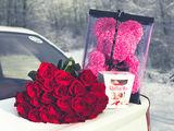 Порадуй любимую!лучший подарок 2020 года!! мишка из 3 d роз всего 449лей!