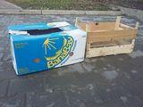 Cutii de sub banane, lazi din plastic, lazi din lemn,cutii carton pentru capsuni.