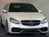 Exclusive Mercedes-Benz E Class AMG E63 facelift alb/белый