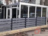 Construcție modulară realizată din 4 module cu destinație cafenea. 1000x5000mm