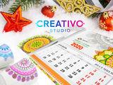 Новогодние и Рождествеские открытки, календари, поздравления 2020 ! Типография.