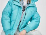 Женская зимняя куртка, балонка, зимний пуховик, утиный пух jazzevar z18004 небесно-голубой
