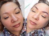 Пудровое напыление бровей, губ и глаз. Efect Pudrat al sprincenelor, buzelor si ochilor.
