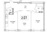 Bloc nou, 2 camere, 58m2, planificare unica, parc, autonoma