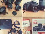 Canon eos 1100d kit 18-55 + 75-300 +50/1.8