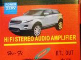Amplificator sunet. Priză și Auto. FM+USB+SD/MMC. Nou. 490 lei