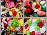 Букеты из искусственных цветов ручной работы.