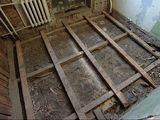 Демонтаж деревянного пола!