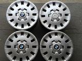 Оригинальные железные диски BMW с колпаками