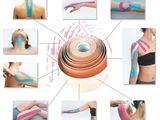 Кинезио тейпы. Купирование боли при растяжениях. Фиксация суставов и мышц.