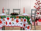 Новогодние скатерти на маленький стол кухонный , книжку ,новогодние полотенчики