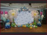 Decor cu baloane pentru cumatrie, fotopanou nunta, panou foto botez, zi de nastere, fotostand