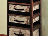 Комод деревянный 4-х ярусный Kesper 35х84х29см 14206  бесплатная доставка