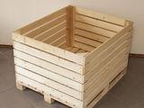 Containere din lemn și metal pentru mere si alte fructe