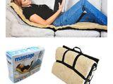 Husa cu masaj si incalzire, cu blana si telecomanda pătură masaj Nou