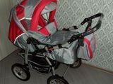 Carucior transformer Bebetto pentru copii (0-3 ani) cu tot complectul