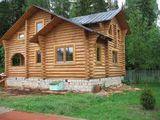 Casa din lemn la Telecentru. Дом из сруба