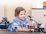 Cufundă-te  în copilărie și devino un inginer adevărat cu noul camion macara mobil Mitu Robot Build!
