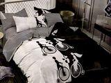 Черно - белое постельное белье с экспресс доставкой по Молдове