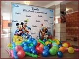 Panou cu baloane pentru cumatrie, banner zi de nastere, nunta, decor botez, aniversare.