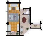 Apartament cu 1 odaie, bloc nou