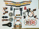 MTB манетки, покрышки, шатуны, руль, колёса