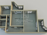 2 комнатная, р-н Мечникова, площадью 54 кв. м., на 2 этаже за 14 000