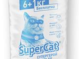 """наполнитель  """"  Super Cat 6+1 кг """" .. ( cтандарт ) с доставкой по Кишиневу"""