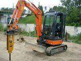 Demolari cu cioocan hidraulic (Mini excavator/Excavator) Mini excavator cu ciocan hidraulic