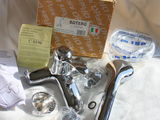 Фирменный итальянский бронзовый кран смеситель для ванной с душем. Paini Botero.