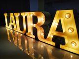Новинка!!!  ретро буквы с лампочками под заказ.