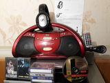 Vitek vt-3479 cd-маг. поддержка mp3 тюнер, fm+магнитофонные касеты + флешки +диски 450 лей торг.