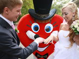 New.«Сердце» на свадьбу– сюрприз! Поздравь kруто.Клоун Арлекино.Микки Маус. Ru/rom