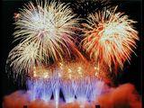 Атриум фейерверки,салюты, artificii, pyroshow купола