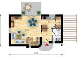 Тёплый дом с традиционным дизайном 146 м/кв