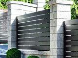 Gard din profil zincat orizontal.Забор из оцинкованного профиля.
