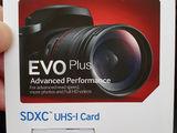 новая SD карта памяти Samsung EVO+ 64gb, оригинал !