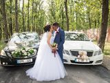 Lux Mercedes albe/negre pentru nunta ta - 15 €/ora & 79 €/zi