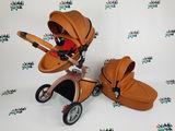 Популярная и красивая коляска Hot Mom 2в1 коричневая еко кожа аналог mima xari