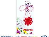 Martisor мэрцишор артикул v32 handmade два вязаных цветочка или бабочки полосатая верёвка на открытк