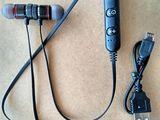Компактные беспроводные стерео наушники с магнитным креплением - 150 л.