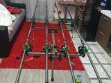 Set crap 4 lansete 3.90 metri + 4 mulinete + rodpod echipat