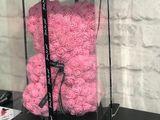 Подарок - Мишка из роз! В красивой упаковке и ароматом!