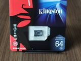 MicroSD Class10 Kingstone Canvas Plus - 64GB, новая - доставка!