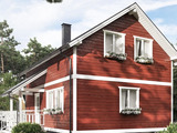 Мансардный дом в классическом стиле.