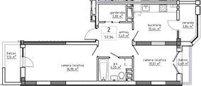 2-комнатная 57.94 м2