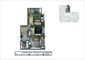 2-комнатная 64.4 м2