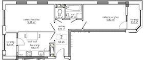 2-комнатная 60.46 м2